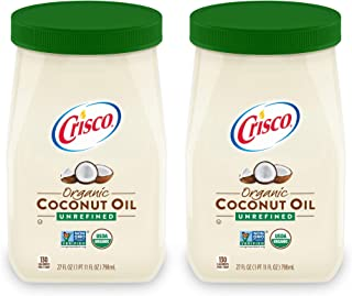 product image for Crisco Unrefined Organic Coconut Oil, 27 Fluid Ounces (Pack of 2)