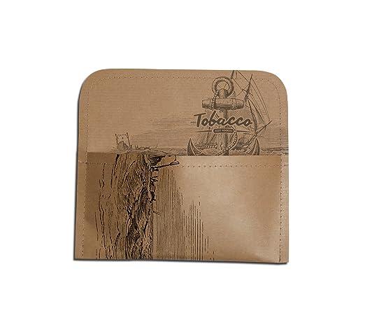 Bastelpapier Vintage wooden anchor tabaktasche aus tyvek tabak beutel tasche