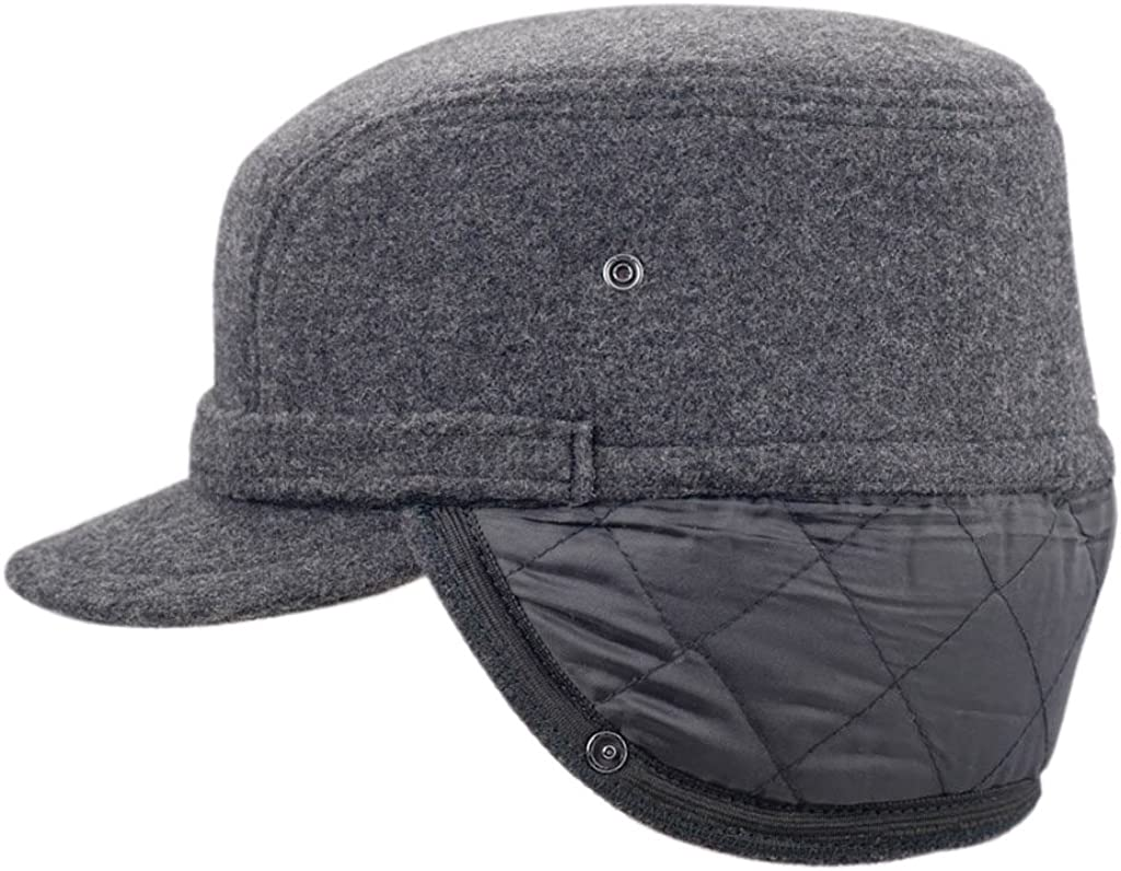 Wool Fleece Winter Working Cap with Ear Flap