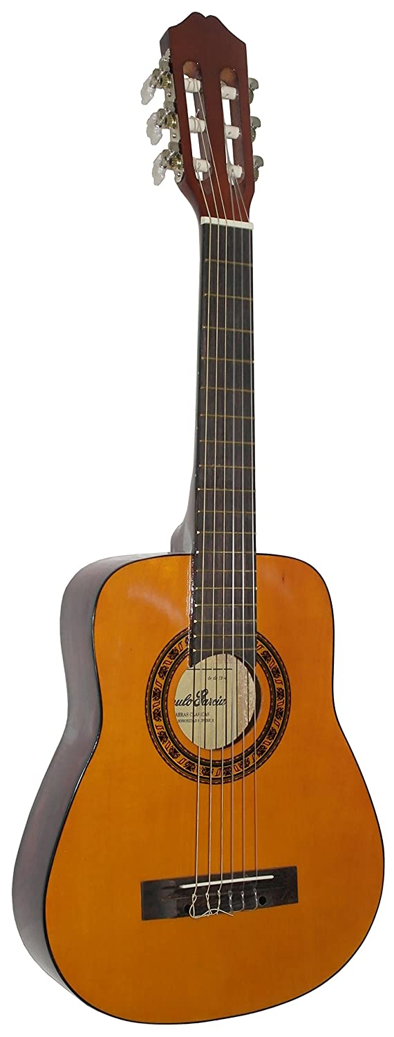 Classical Nylon String Childs Guitar Acoustic Guitar Package LEFT HAND 1//4 Sized 31 inch Age 3 to 6 Garcia Special Natural Stretton Payne