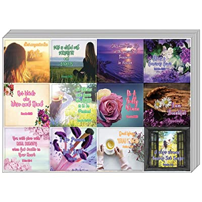 Christian Stickers for Women Series 1 (5-Sheet) - Inspiring and Motivational Stickers : Office Products