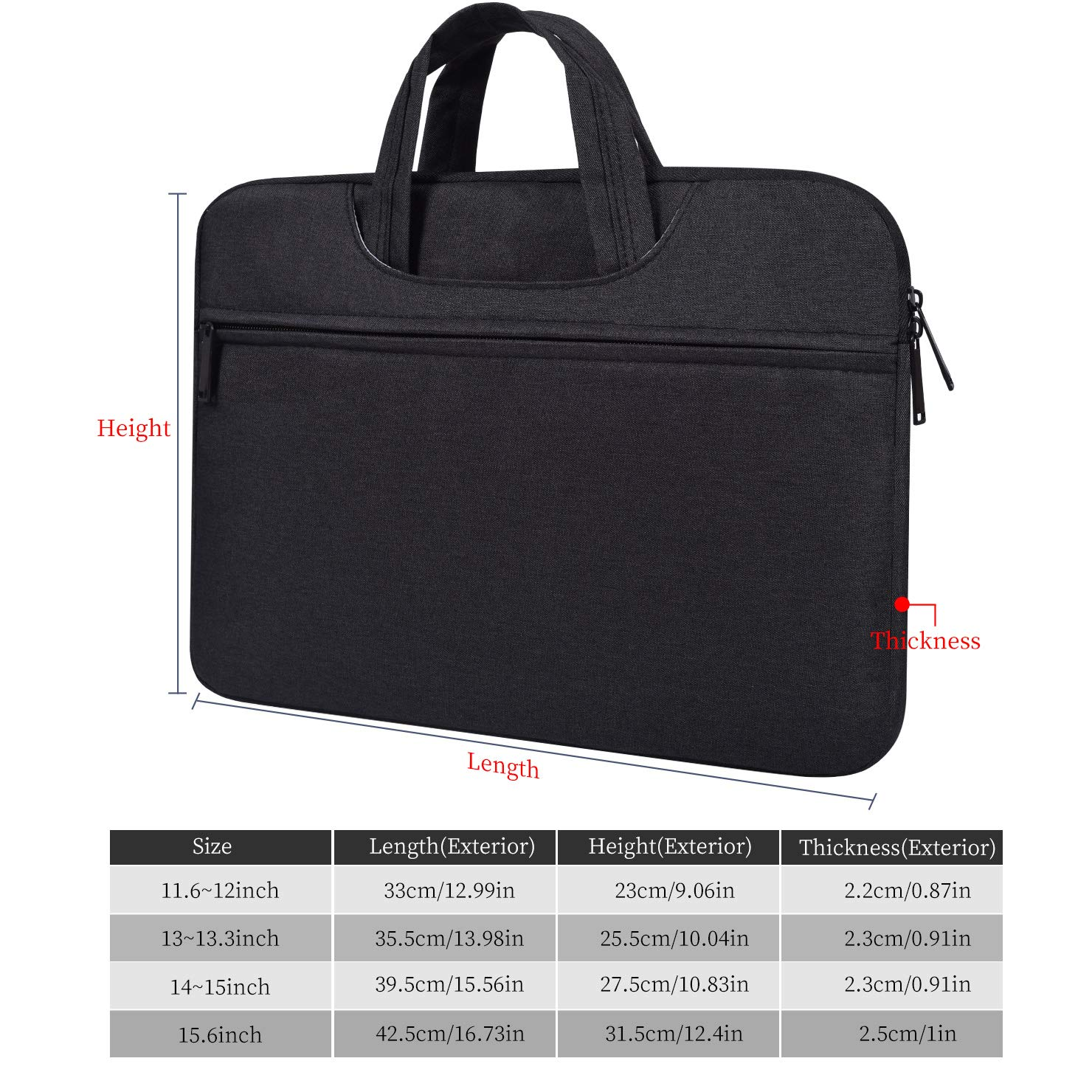 7bb88addcd1f Amazon.com: imComor 14-15 Inch Laptop Sleeve Briefcase Handbag ...