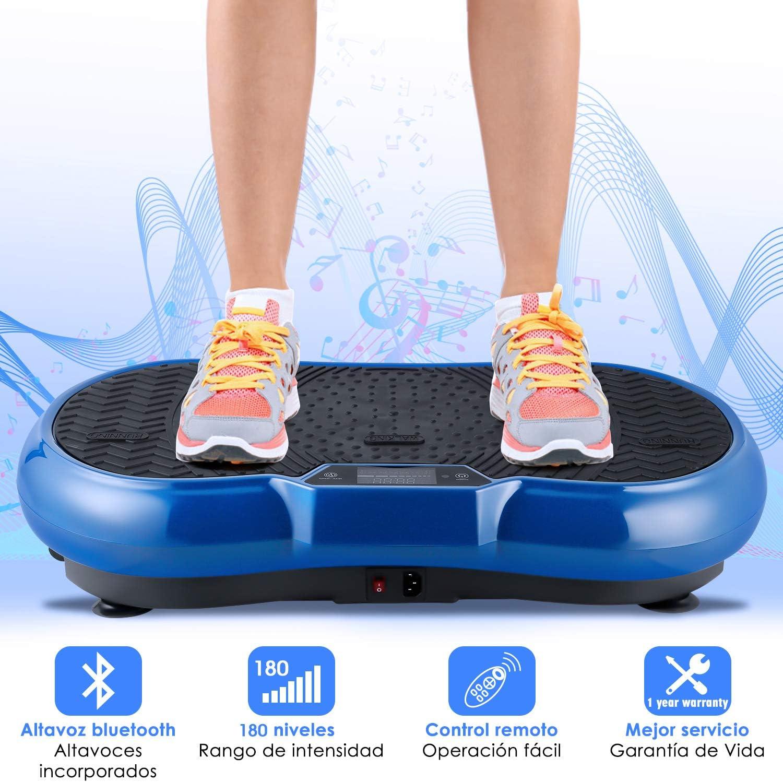 EVOLAND 3D Plataforma Vibratoria, Máquina de Ejercicio Entrenamiento con Altavoz Bluetooth, Deportivo Multifunción para Perder Peso y Relajar Músculos, Peso Máximo Soporte 150kgs / 330lbs: Amazon.es: Deportes y aire libre