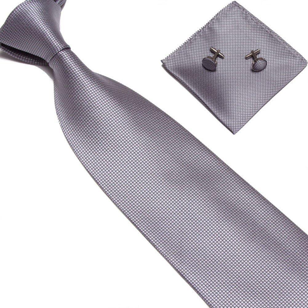 Yeahii Woven Silk Necktie HandMade Mens Tie Cufflinks and Handkerchief Set Hanky Gift