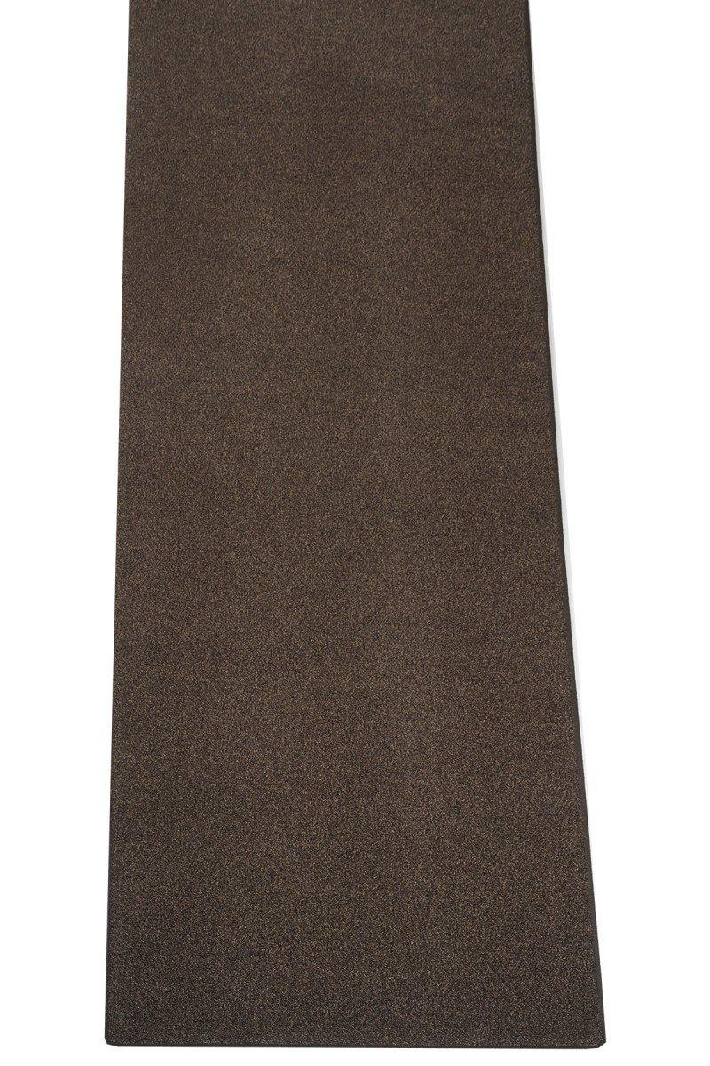 Havatex Teppich Melange Frieze Athen Läufer - - - und schadstoffgeprüft   robust pflegeleicht und dekorativ   für Schlafzimmer Flur Diele, Farbe Braun, Größe 80 x 250 cm 461e30