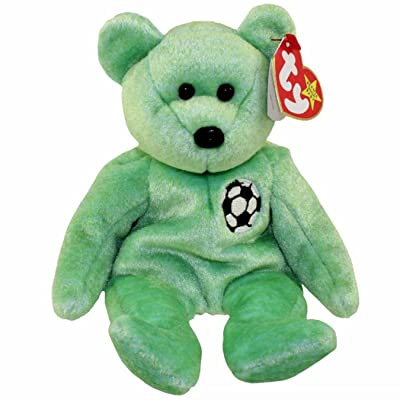 TY Beanie Baby - KICKS the Soccer Bear: Toys & Games