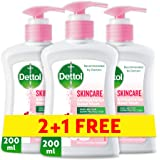 Dettol Skincare Anti-Bacterial Liquid Hand Wash 200ml 2+1 Free