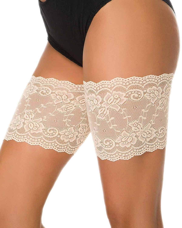 Yuson Girl Elastic Anti Chafing Schenkel Bands Oberschenkel Socken 1 Paar Damen Elastische Oberschenkel B/änder