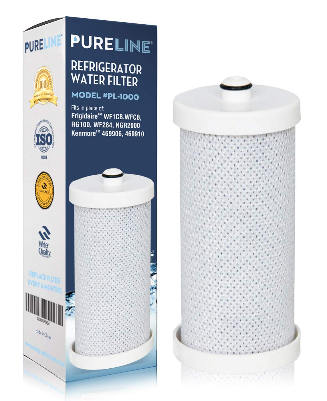 Frigidaire WF1CB, NGRG2000, Compatible Replacement Water Filter, Also Compatible With RF100, RG100, RF-100, RG-100, NGRG-2000 and Kenmore 9910, 469910, 46-9910 Refrigerator Water Filter (1 Pack)