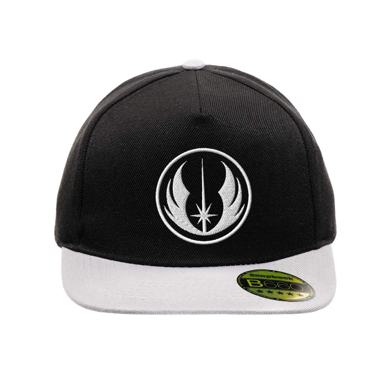 Jedi Star Wars White Casquette Snapback Originale /à Visi/ère Plate R/églable et Unisex Casquette Urbaine /à Logo Brod/é