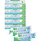 Auromere Ayurvedic Herbal Toothpaste, Fresh Mint - Vegan, Natural, Non GMO, Flouride Free, Gluten Free, with Neem & Peelu (4.