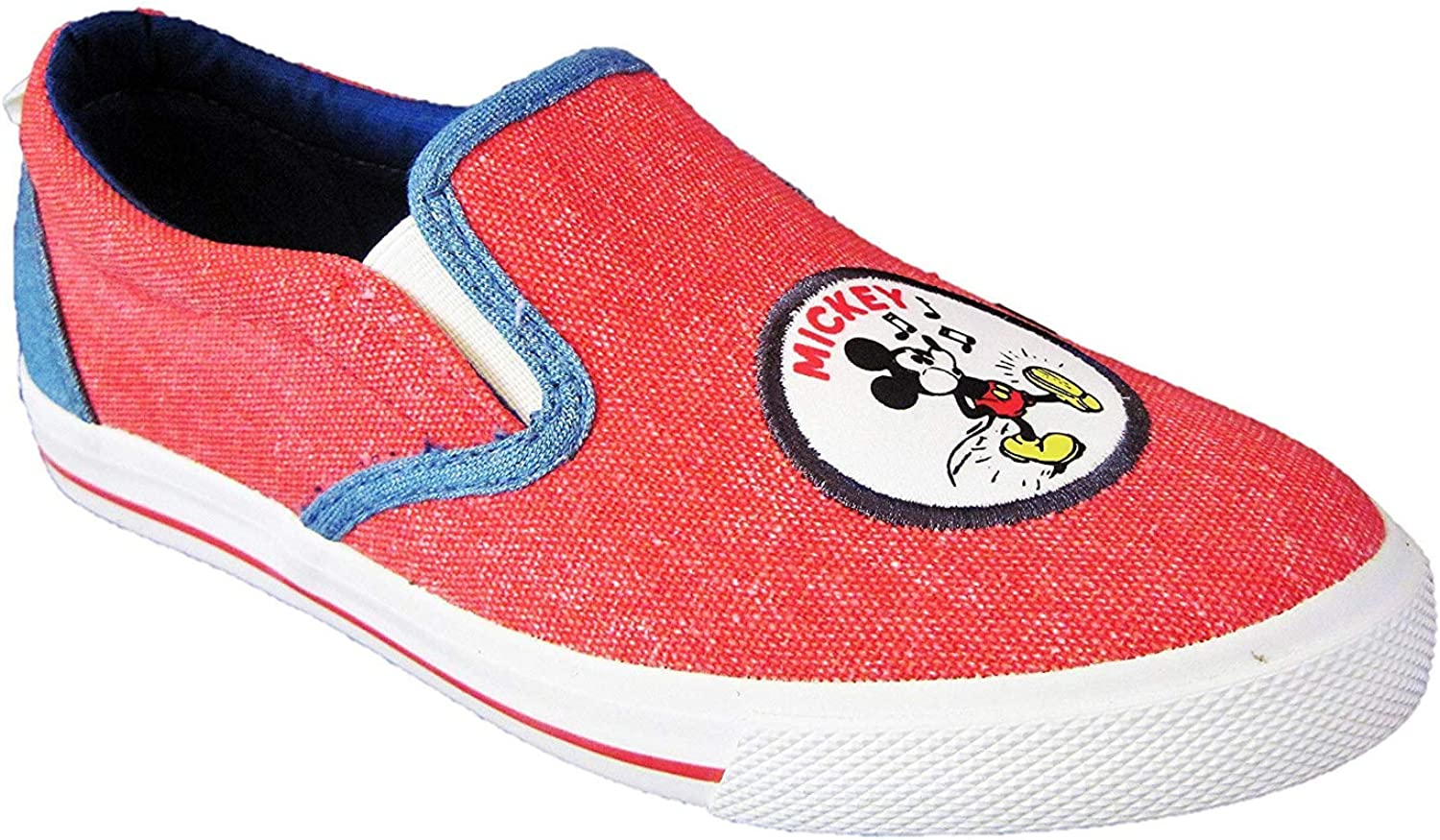 Mickey Mouse Big Girls' Red Slip-On Sneakers