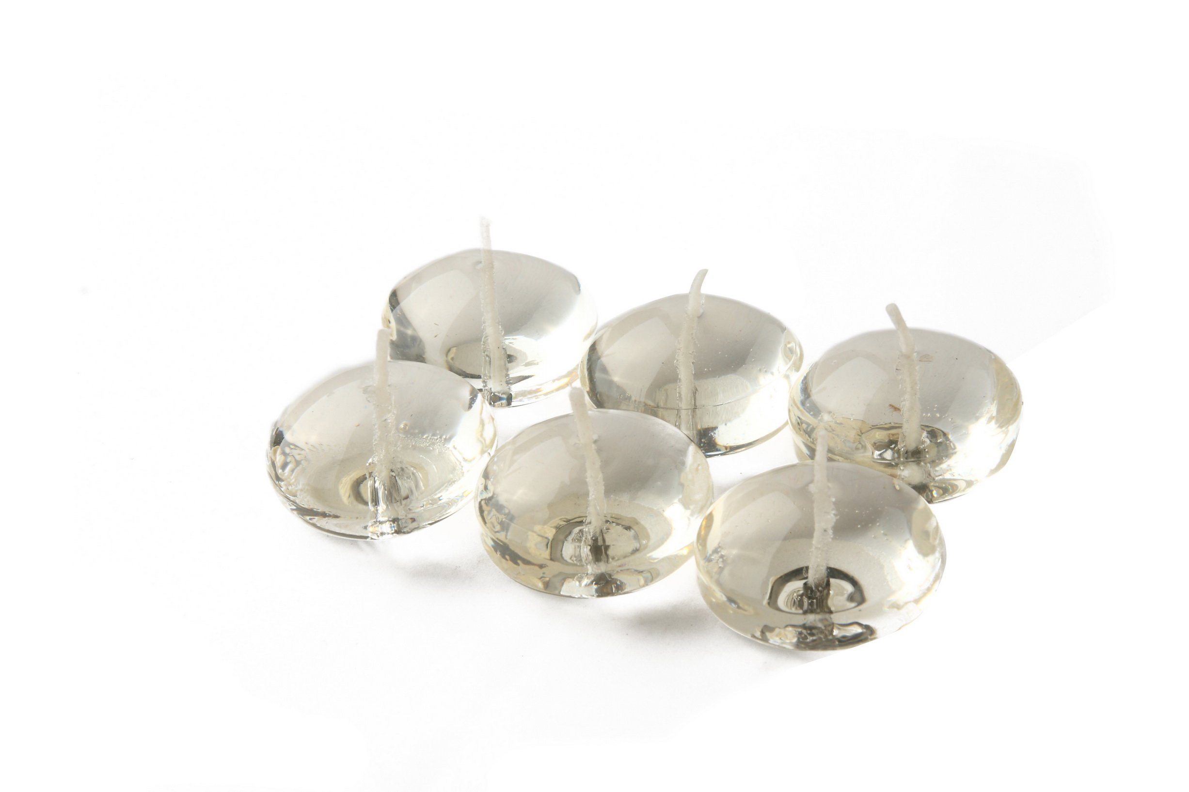 Zest Candle CFG-101_12 144-Piece Clear Gel Floating Candle, 1.75'', White by Zest Candle (Image #1)