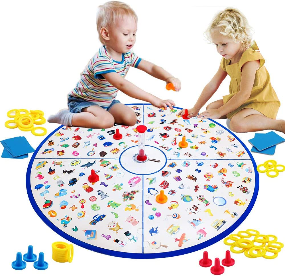 Juego de Mesa Familiar para niños, Juego de Cartas Little Detective, Juego de combinación Stem, Juguetes educativos para niños 3,4,5,6,7 8 años de Regalo para niños y niñas y Adultos