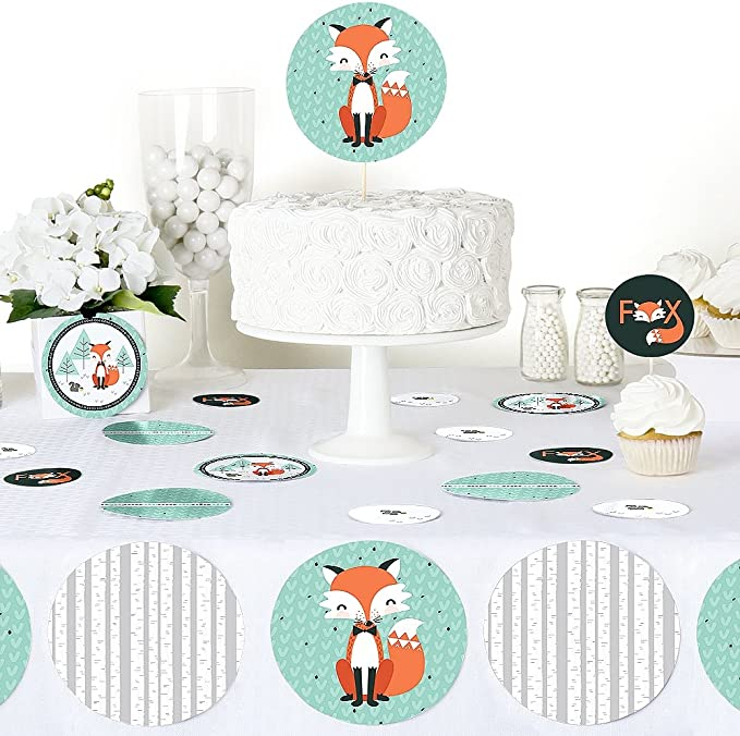 Baby Shower or Birthday Party Decorations 27 Count Party Supplies Giant Circle Confetti Large Confetti Mr Foxy Fox