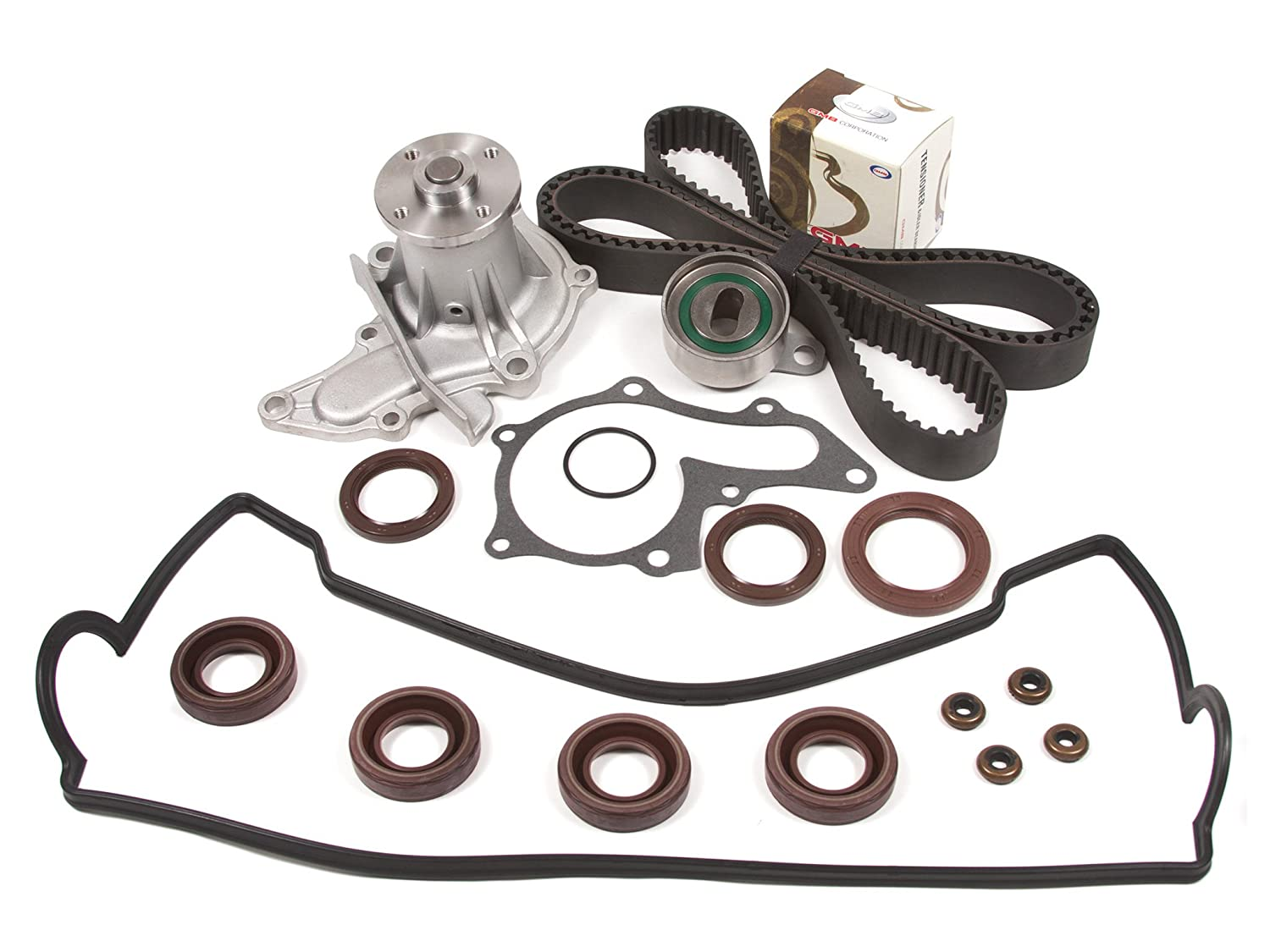 Amazon.com: Evergreen TBK236VCT 93-97 Geo Prizm Toyota Corolla 1.6L 4AFE Timing  Belt Kit Valve Cover Gasket Water Pump: Automotive