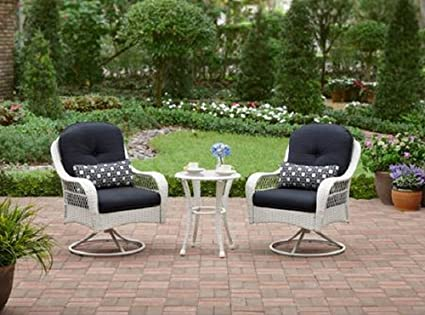 c980aa83fadb Image Unavailable. Image not available for. Color: 3-Piece Outdoor Bistro  Set is Perfect For Small Spaces Like A Balcony As Well