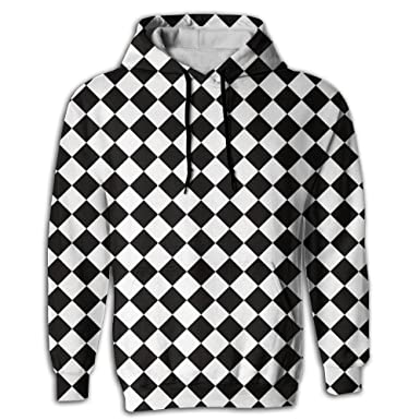 7a54924176c Amazon.com  Doppyee Chess Checkerboard Unisex Realistic 3D Digital Printed  Drawstring Pockets Pullover Hoodie Hooded Sweatshirt  Clothing