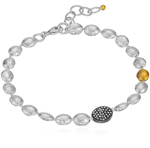 """GURHAN """"Jordan Pave"""" Sterling Silver Bracelet (1/3cttw, I-J Color, I2 Clarity)"""