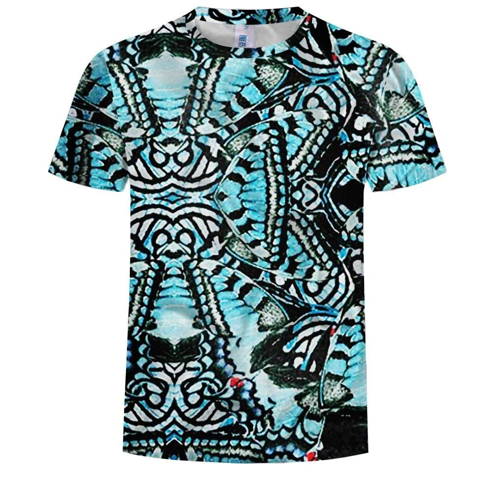 37-Niuyongmaoyi 3D T-Shirt Short Sleeve T-Shirt Creative Crewneck Graphic Casual Printed Tee Tops