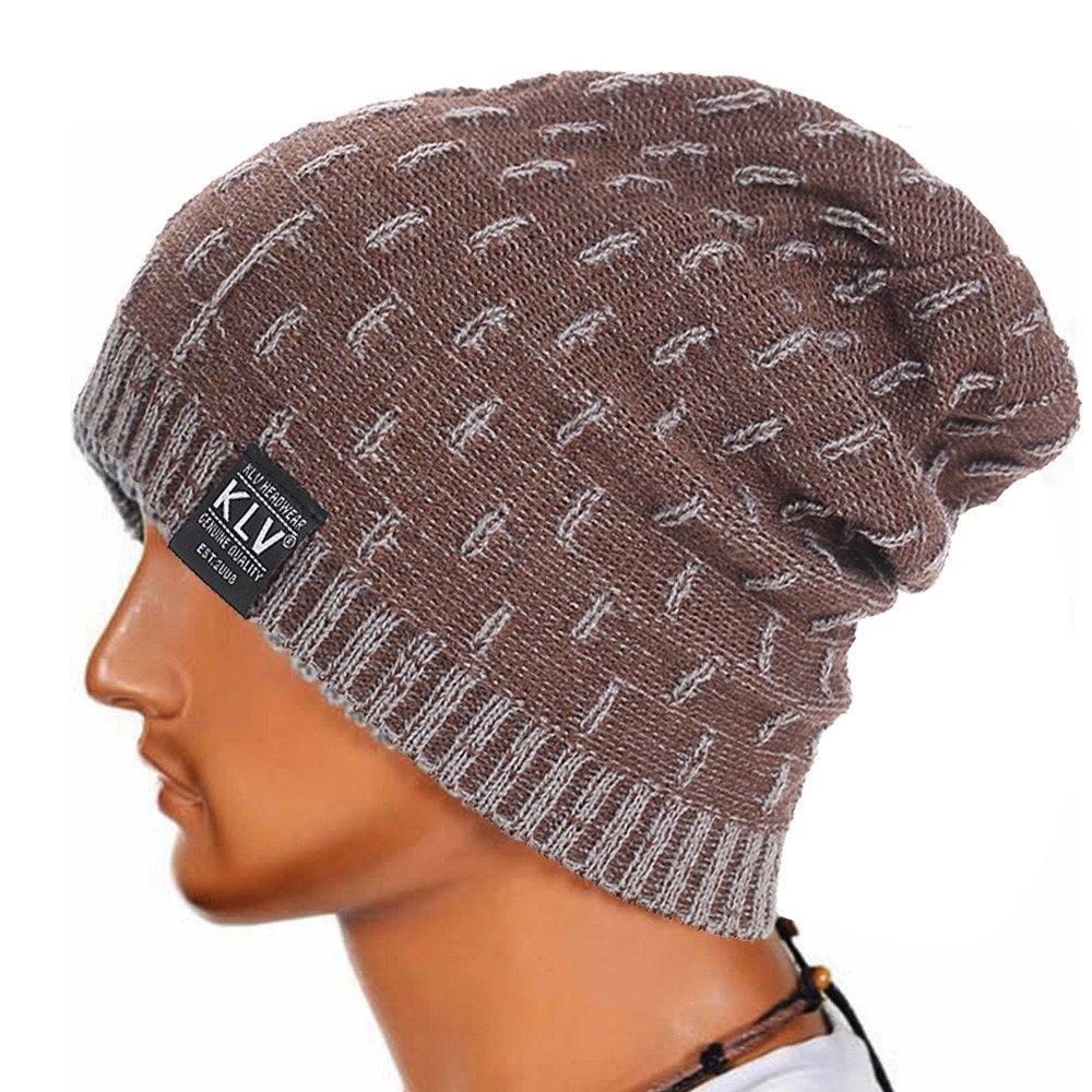 DEELIN Liv Hombres Holgados Crochet Caliente Invierno Lana Tejer Esquí Beanie CráNeo Slouchy Gorras Sombreros Christmas Gifts: Amazon.es: Ropa y accesorios