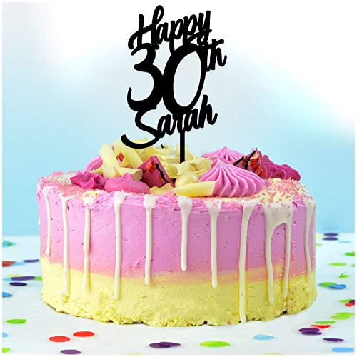 Happy Birthday Cake Topper PERSONALISED Decoration