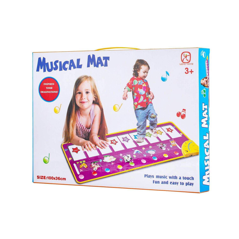 NoRi Piano Mat, Foldable Musical Mat [ 39'' x 14'', 14 Keys ] Baby Dance Music Piano Carpet Blanket Toys Gift Kids Girls
