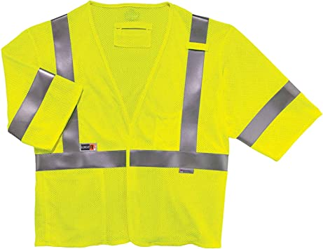 Hi-Vis Yellow with 2 Red//Orange-Silver-Red//Orange Triple Trim 32 Waist 34 Inseam Hi-Vis Yellow with 2 Red//Orange-Silver-Red//Orange Triple Trim 34 Inseam 32 Waist TOPPS SAFETY EP02R4708-32-34 Deluxe EMS TECSAFE Pants