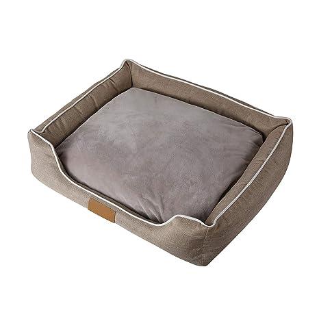 Siler Cama para Perros, Impermeable Tela Oxford Gato Perrito Sofá Interior Extraíble y Lavable Transpirable