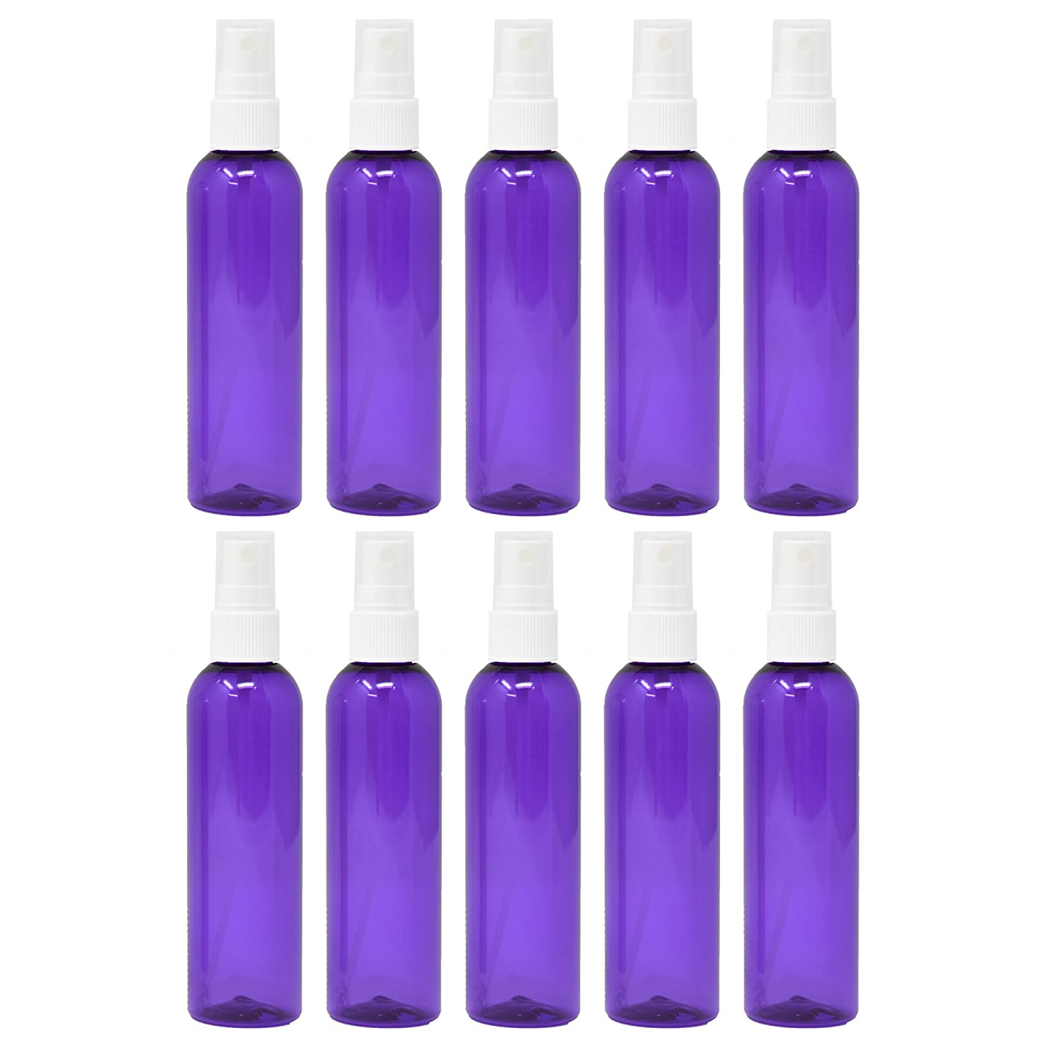 Plastic Spray Bottles Empty 4 oz 10 Pack with Fine Mist Sprayers PET BPA Free Materials Great for Essential Oil Sprays