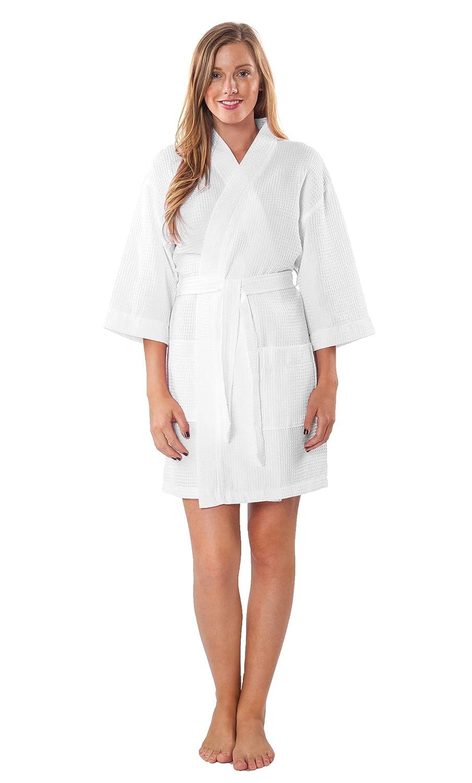 474e613146 Lightweight Knee Length Waffle Kimono Bridesmaids Spa Robe 80%OFF ...