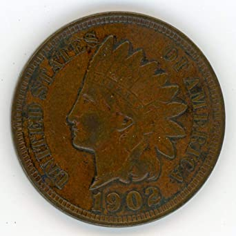 XF FREE SHIPPING 1902 Indian Head Cent Penny FULL LIBERTY VF