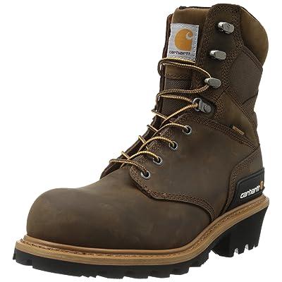"Amazon.com   Carhartt Men's 8"" Waterproof Composite Toe Leather Logger Boot CML8369   Industrial & Construction Boots"
