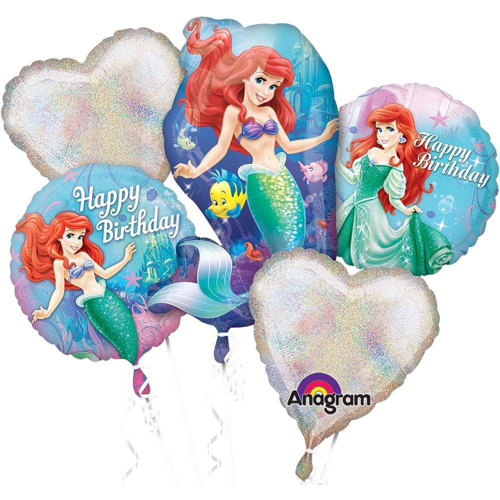 Sirenita cumpleaños ramo de globos: Amazon.es: Juguetes y juegos
