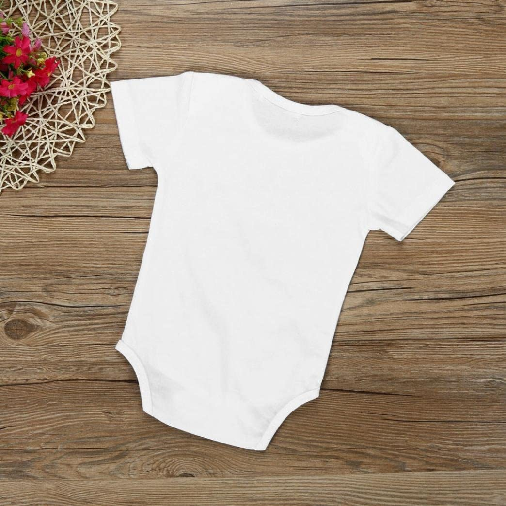 squarex Baby Boys Girls Letter Print Romper Jumpsuit Outfits Clothes