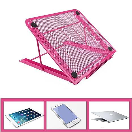 Soporte ajustable ventilado para portátil Laptop Stand, ventilado, ajustable, de malla de metal