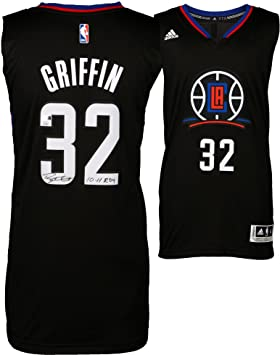 info for a720b 1565d Blake Griffin LA Clippers Autographed Black Swingman Jersey ...