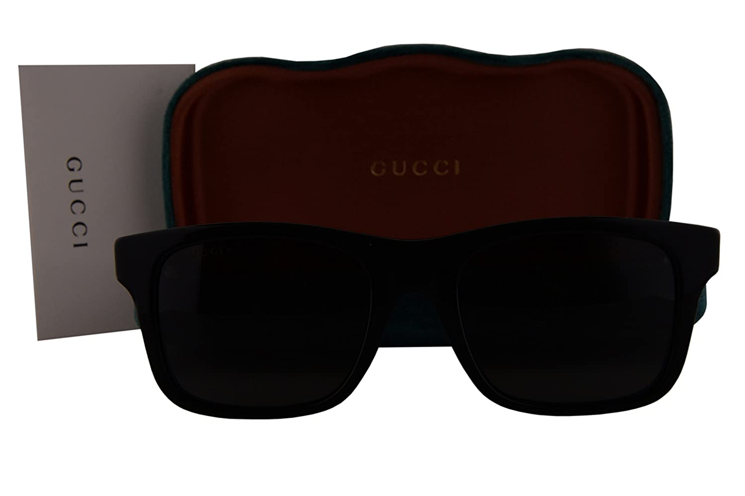 b1469e2442 Gucci GG0008S Sunglasses Shiny Black w/Polarized Gray Lens 002 GG 0008S:  Amazon.co.uk: Clothing