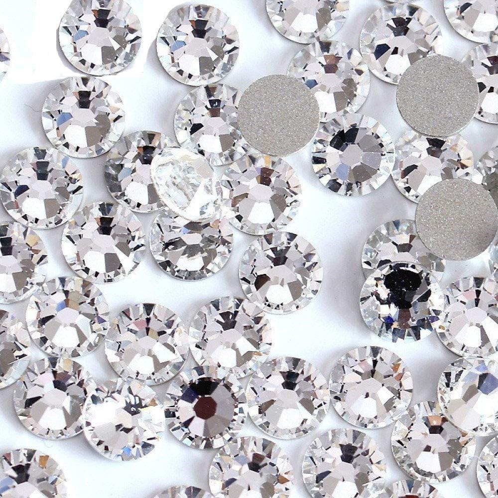 200 Silver Flatback Acrylic Glitter Stardust Round Rhinestone Cabochons 12mm