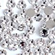 Onwon 1440 Pieces SS16 / 4mm Clear Crystal Flat Back Brilliant Round Rhinestones Glass Stones Glitter Gems Transparent Faux Diamond (Clear)
