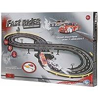 Betoys 740305 - Circuit électrique poursuite rapide avec 2 véhicules - Circuit Fast Rider en 8 - Longueur 2m32 - 96,5 x 48,3 cm - 2 voitures RC -