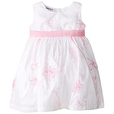 Blueberi Boulevard Baby Girls' SL Ribbon Embroidered Dress