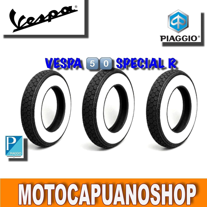 Kit 3 gomas banda blanca 3.50.10 Vespa PX 125 Old Style: Amazon.es: Coche y moto