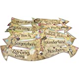 ASVP Shop Alice in Wonderland Party Vintage Style Arrow Signs/Mad Hatters Tea Party Props Pack of 10 Signs