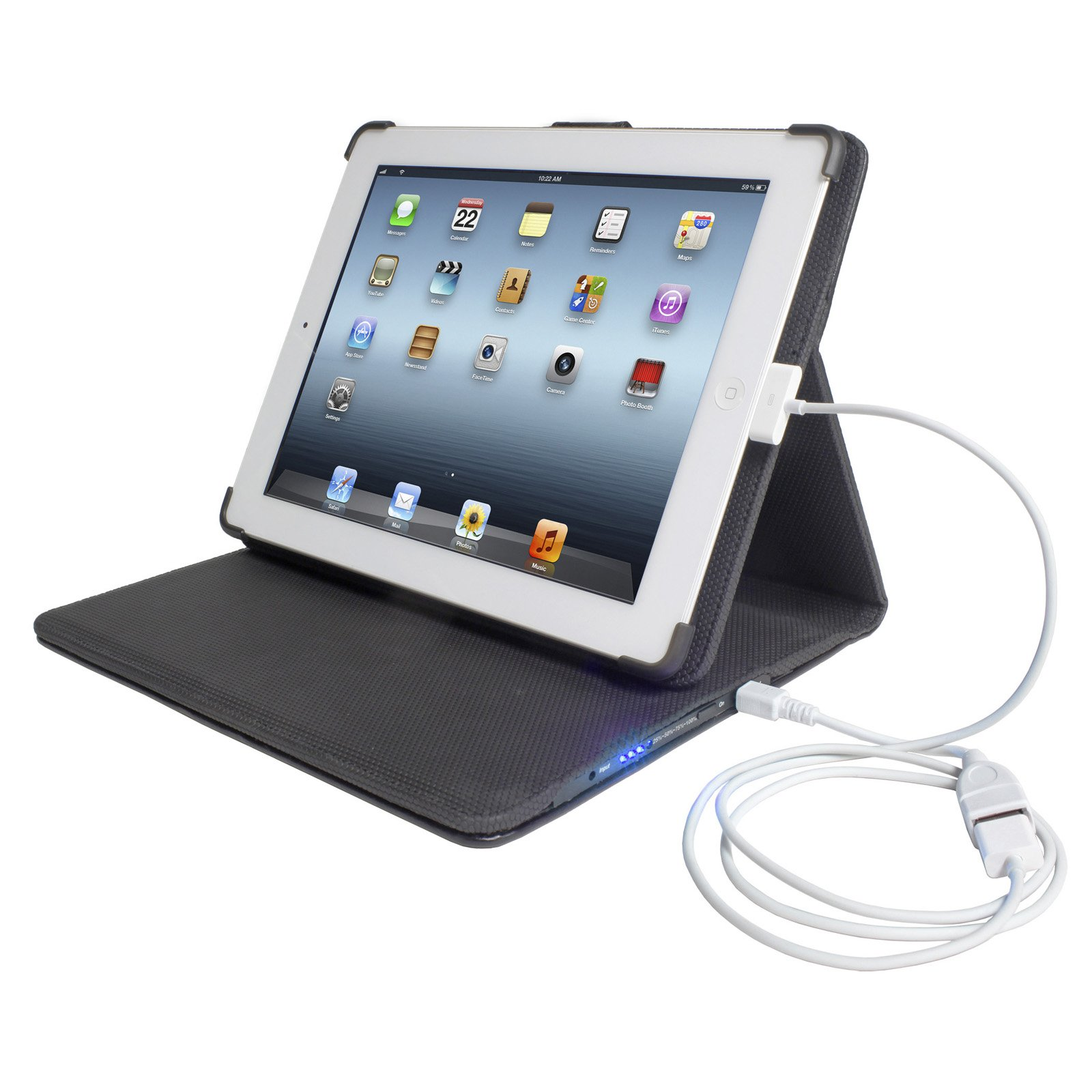 PCT Brands Props 12,000mAh Power Folio Case for iPad 2 by PCT Brands (Image #1)