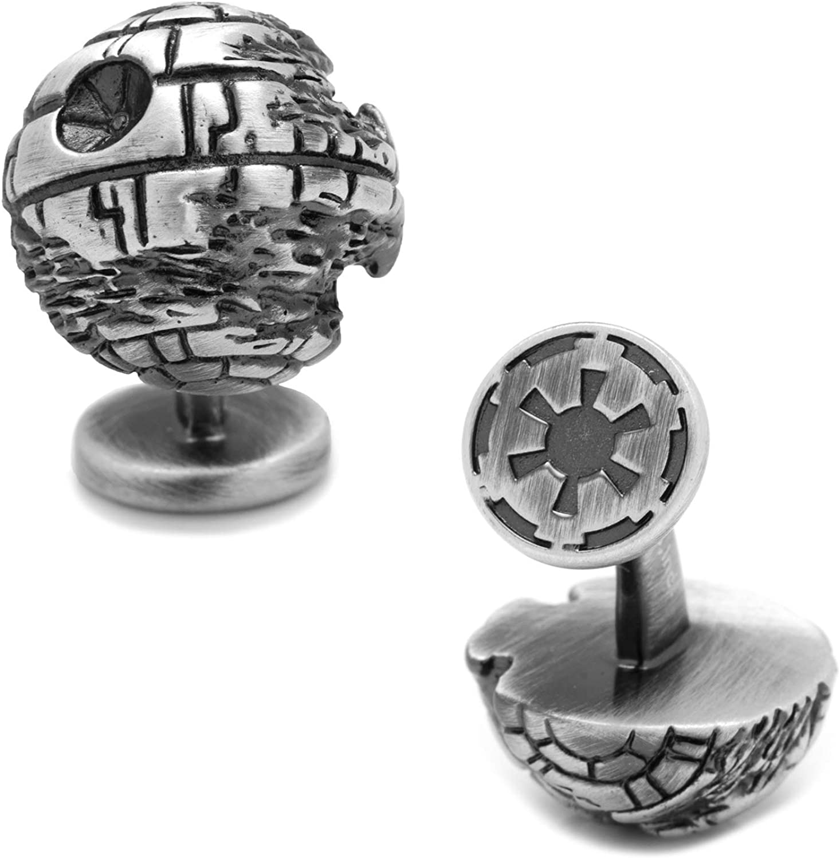 Star Wars 3D Death Star II Cufflinks, Officially Licensed