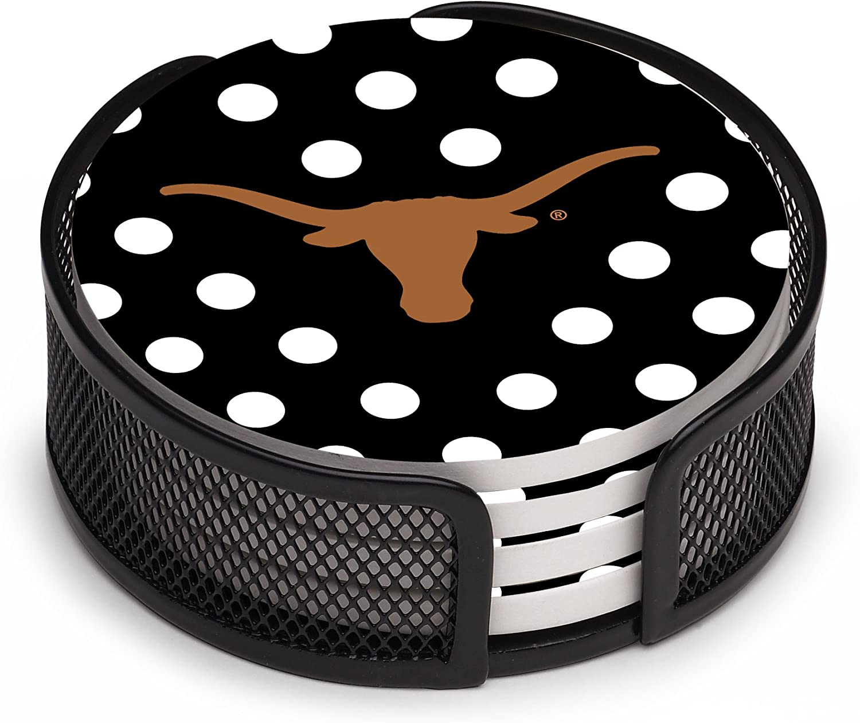 Thirstystone University of Texas, dark polka dot with holder
