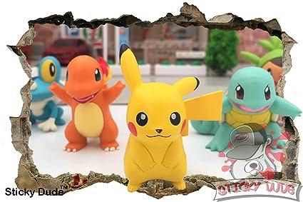 3d efecto Pokemon personajes de vinilo - Alta resolución impresión ...