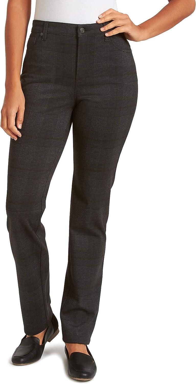 Gloria Vanderbilt Womens Amanda Ponte High Rise Knit Pant Pants