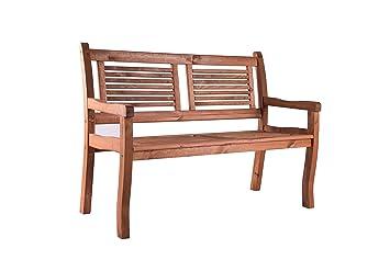Gartenbank holz wetterfest  Amazon.de: 2 Sitzer Gartenbank Holz massiv SIENA von BOMI ...